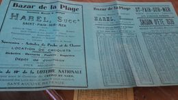 Horaires Marées SAINT PAIR SUR MER 1939 - Europe