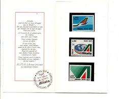 ITALIE ENCART ET TIMBRES NEUFS 25 ANS DE ALITALIA 1971 - 1971-80: Neufs