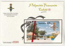 "PF65 A (encart) - Iaorana Villa / Taaone Villa - GEM 10 / 1A - NSB - N° 0586 - ""rare"" - Polynésie Française"