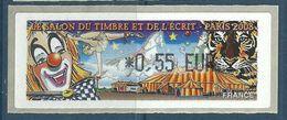 Vignette D'affranchissement Lisa - ATM - Cirque - Clown - Tigre - 1999-2009 Viñetas De Franqueo Illustradas