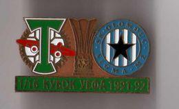 "Badge Pin: UEFA Cup 1991-92 FC Torpedo Moskva USSR -  "" SK Sigma Olomouc ""  Czech Republic - Football"