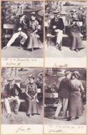 Cpfete 437 Lot De 4 CPA Assorties Les Amoureux Du Banc Public 1903 à GAYREL Gaillac B.K.W.I N°1,3,4,5 - Autres