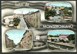 CV3464 MONTEROMANO (Viterbo VT) Saluti Da, Con 4 Vedutine, FG, Viaggiata 1966 Per Milano, Ottime Condizioni - Viterbo