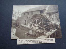 """Origineel Knipsel ( 5080 ) Uit Tijdschrift """" Zondagsvriend """"  1936 :   Watermolen  Moulin à Eau  Tongres  Tongeren - Sin Clasificación"""