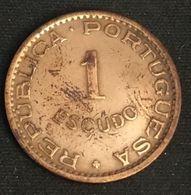 ANGOLA - 1 ESCUDO 1953 - Bronze - KM 76 - Angola