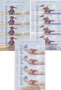 2017. Kyrgyzstan, Salbuurun-traditional Kyrgyz Hunting,  3 Sheetlets, Mint/** - Kyrgyzstan