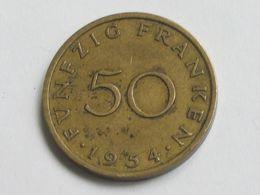 50 Franken 1954 - SARRE - Saarland -  *** Monnaie Assez Rare **** - Saarland