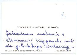 Visitekaartje - Carte De Visite - Dokter & Mevrouw Daem - Oudenaarde - Visiting Cards