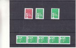 France - Yvert 3418 + N° , 3458 + N° , 3535 A - 3458 X 4 , 3458 + N° - Valeur 19,80 Euros - Rollen