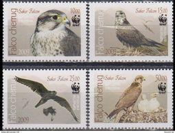 Kyrgyzstan 2009 WWF Fauna Birds Falcon MiNr.679-82A - Kyrgyzstan