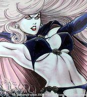 Fantaisie Erotique BD COMICS Erotic Fantasy  LADY DEATH Sexe Diable Enfer Demon Hell Femme Gothique Underwear Gothic - Trading Cards
