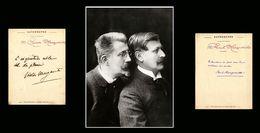 Paul & Victor MARGUERITTE-  CITATIONS AUTOGRAPHES ET SIGNEES DES DEUX ECRIVAINS - Autógrafos
