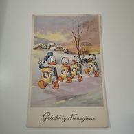 Donald Duck,kwik, Kwek, Kwak, Gelukkig Nieuwjaar, 1954,printed In Belgium 54125/2 - Other