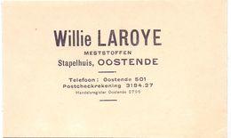 Visitekaartje - Carte De Visite - Meststoffen Willie Laroye - Oostende - Visiting Cards