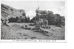 17 SAINT PALAIS SUR MER Cpa Rochers Aux Peerrières 18 M.D - Saint-Palais-sur-Mer