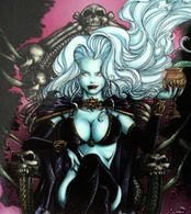 Erotique COMICS Erotic Fantasy LADY DEATH Sexe Diable Enfer Demon Cimetière Gothique Trône Cemetery Gothic Hell Throne - Trading Cards