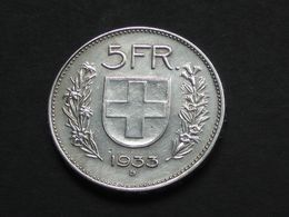 SUISSE - 5 Francs 1933 B  **** EN ACHAT IMMEDIAT **** - Suisse