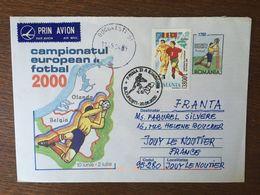 ROUMANIE CHAMPIONNAT EUROPEEN DE FOOTBALL 2000 ENTIER POSTALB253 4343 FDC PREMIER JOUR - FDC
