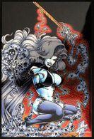 Erotique COMICS Erotic Fantasy LADY DEATH Sexe Diable Enfer Demon Lingerie Gothique épée Underwear Gothic Hell Sword - Trading Cards