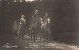 ! Ansichtskarte, Adel, Prinzessin Victoria Louise Von Preußen Mit Prinz Joachim Zu Pferde, Horses, Aufnahme Kassel 1908 - Familles Royales
