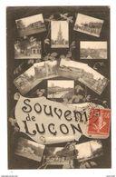 85 - SOUVENIR DE LUCON - MULTIVUES - 1907 - 2 Scans - Lucon