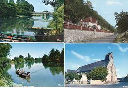 LA CHAPELLE AUX CHOUX - 4 CP - Le Coteau - L' Eglise - Bords Du Loir - Pécheurs Sur Le Loir   (119456) - Other Municipalities