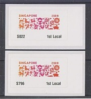 Singapore 2019 Zodiac Design  ATM Frama Machine Labels Mint - Astrologie