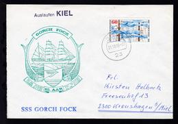 OSt. Kiel 21.10.80 + Cachet SSS Gorch Fock 62. AAR Auf Brief - Germany