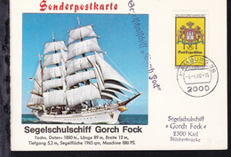 "OSt. Hamburg 9.5.80 + L1Segelschulschiff ""Gorch Fock"" Auf Sonderpostkarte  - Germany"