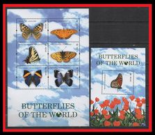 095. NEVIS 2011 STAMP M/S + S/S BUTTERFLIES OF THE WORLD . MNH - St.Kitts Y Nevis ( 1983-...)