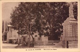 Alpes De Haute Provence, Jausiers, Entree, Monument Aux Morts       (bon Etat) - Sonstige Gemeinden