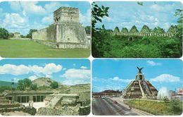 MEXIQUE - 4 CP - Raza En La Ciudad - Las Palomas - Chichen - Temple De Mariposas -     (119462) - Messico