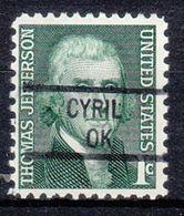USA Precancel Vorausentwertung Preo, Locals Oklahoma, Cyril 841 - Vereinigte Staaten
