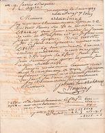 1789 - à CARRIES & BALGUERIE à AGDE - Montpellier L.A.S. ROUGUIEO - - Historische Documenten
