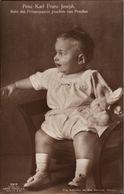 ! Alte Ansichtskarte, Adel, Royalty, Prinz Karl Franz Joseph Von Preussen, Else Niemeyer, Potsdam, Stofftier, Liersch - Familles Royales