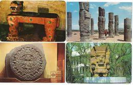 MEXIQUE - 4 CP - Tialoc - Colosos De Tula - Calendario Azteca - El Tigre      (119463) - Messico