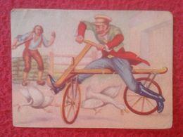 SPAIN ANTIGUO CROMO RARE OLD COLLECTIBLE CARD FHER HISTORIA DEL TRANSPORTE TRANSPORT HISTORY DRAISIANA 53 BICI BICYCLE.. - Non Classés