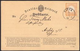 BRUSTSCHILD Nr.14 Als EF Auf Karte Sauberer Sachsen-K1 RIESA  (hk20) - Briefe U. Dokumente
