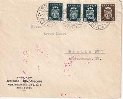 LETTONIE 1940 LETTRE CENSUREE DE RIGA POUR BERLIN - Letonia