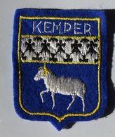 écusson Brodé Ancien QUIMPER Kemper 29 Bretagne Armoiries Blason - Ecussons Tissu