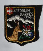 écusson Brodé Ancien Saint Sorlin D'Arves Savoie Chamoix - Ecussons Tissu