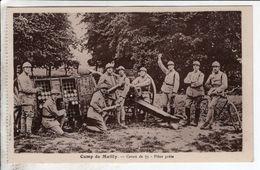 Cpa Camp De Mailly Canon De 75 Piece Prete - Matériel