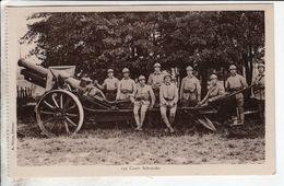 Cpa Camp De Mailly Canon Court Schneider - Matériel