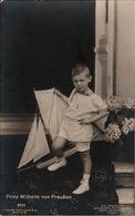 ! Alte Ansichtskarte, Adel, Royalty, Prinz Wilhelm Von Preußen, Segelboot, Verlag Liersch Nr.2334  Niederastroth Potsdam - Familles Royales