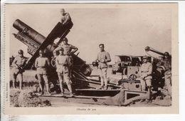 Cpa Camp De Mailly Obusier De 220 - Matériel