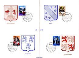 18168031 BE 19680413 Mons; Histoire, Geraardsbergen, Château De Theux, Spiennes, Wervik; In-folio Cob1448-51 - Belgio