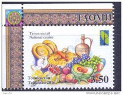 2016. Tajikistan, RCC, National Cuisine, 1v Perforated, Mint/** - Tadjikistan