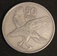 BOTSWANA - 50 THEBE 1980 - Aigle Avec Poisson - KM 7 - Botswana