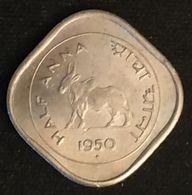 INDE - INDIA - ½ - 1/2 - HALF ANNA 1950 - KM 2.1 - ( Vache Sacrée ) - Mumbai - Inde