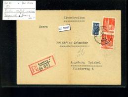 Bauten 87 Wg 2 X Als EB Ortsbrief Bayern - Zone Anglo-Américaine